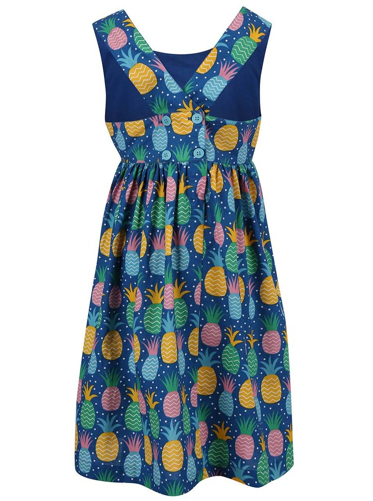 Rochie Frugi Porthcurno albastră cu print ananas