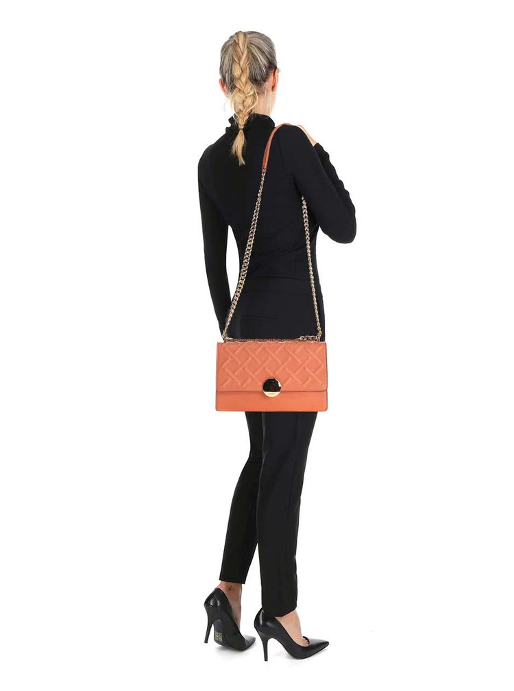 Oranžová kabelka s řetízkovým popruhem ve zlaté barvě ALDO Pygmy