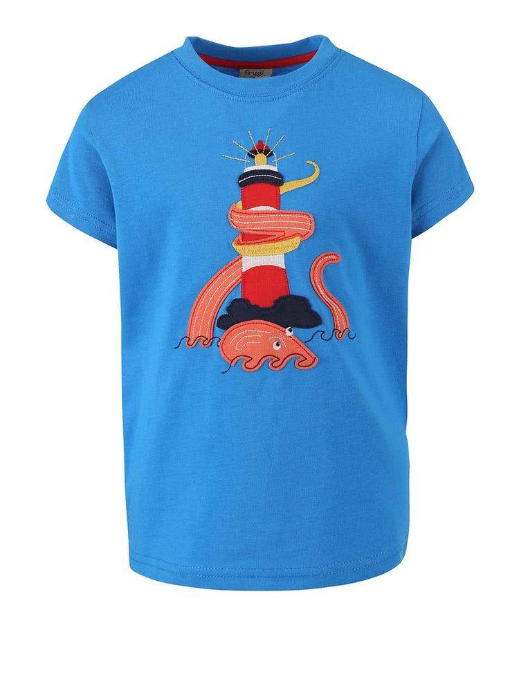 Tricou Frugi Stanley albastru cu print