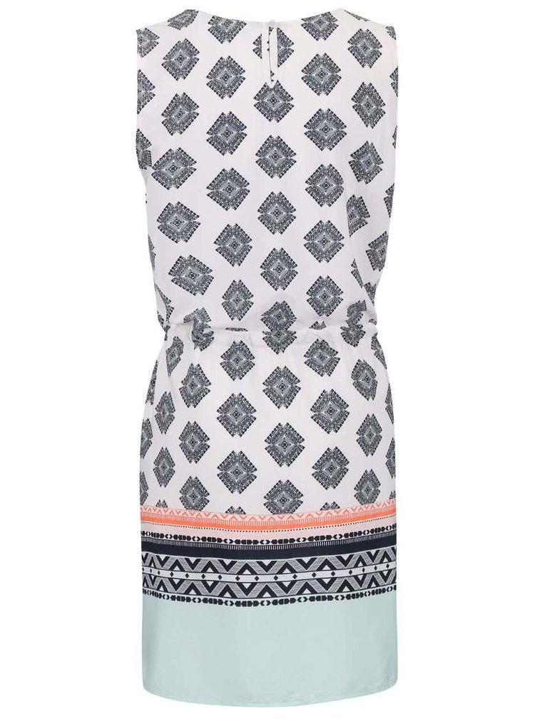 Šedo-bílé šaty se vzory Fever London Bonnie