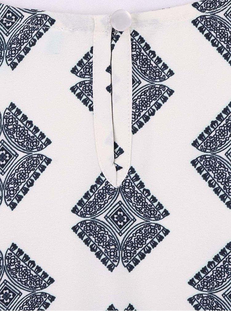 Sivo-biele šaty so vzormi Fever London Bonnie