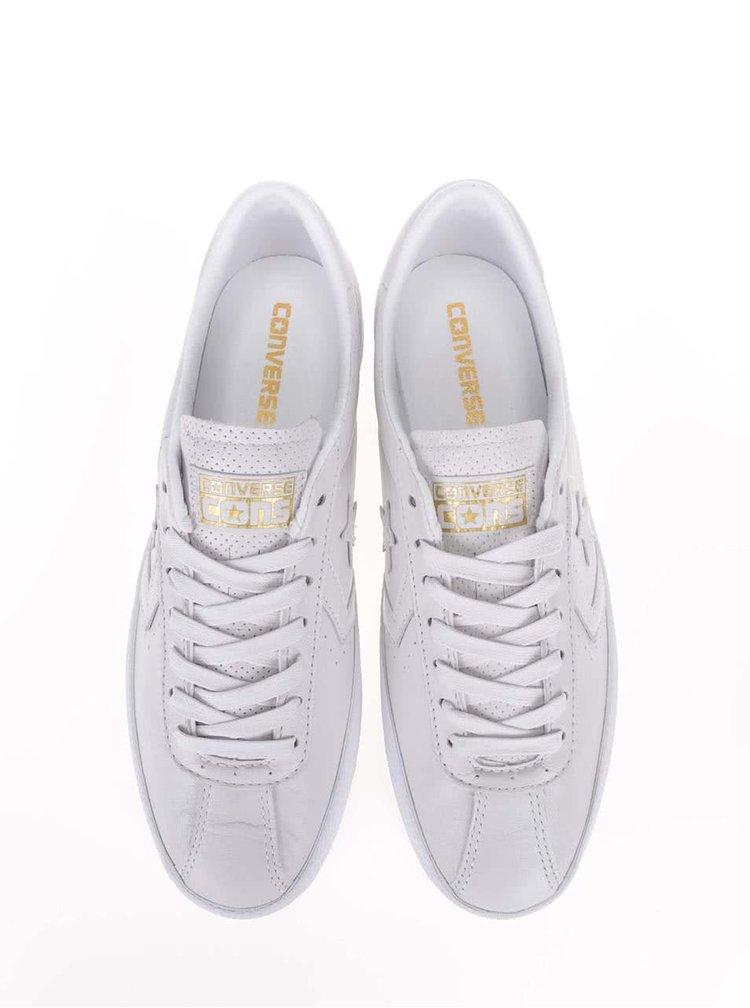 Biele pánske kožené tenisky Converse Breakpoint