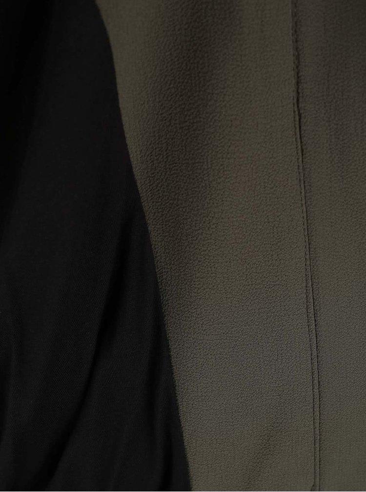 Tmavozelená bomber bunda so zipsom v zlatej farbe Dorothy Perkins