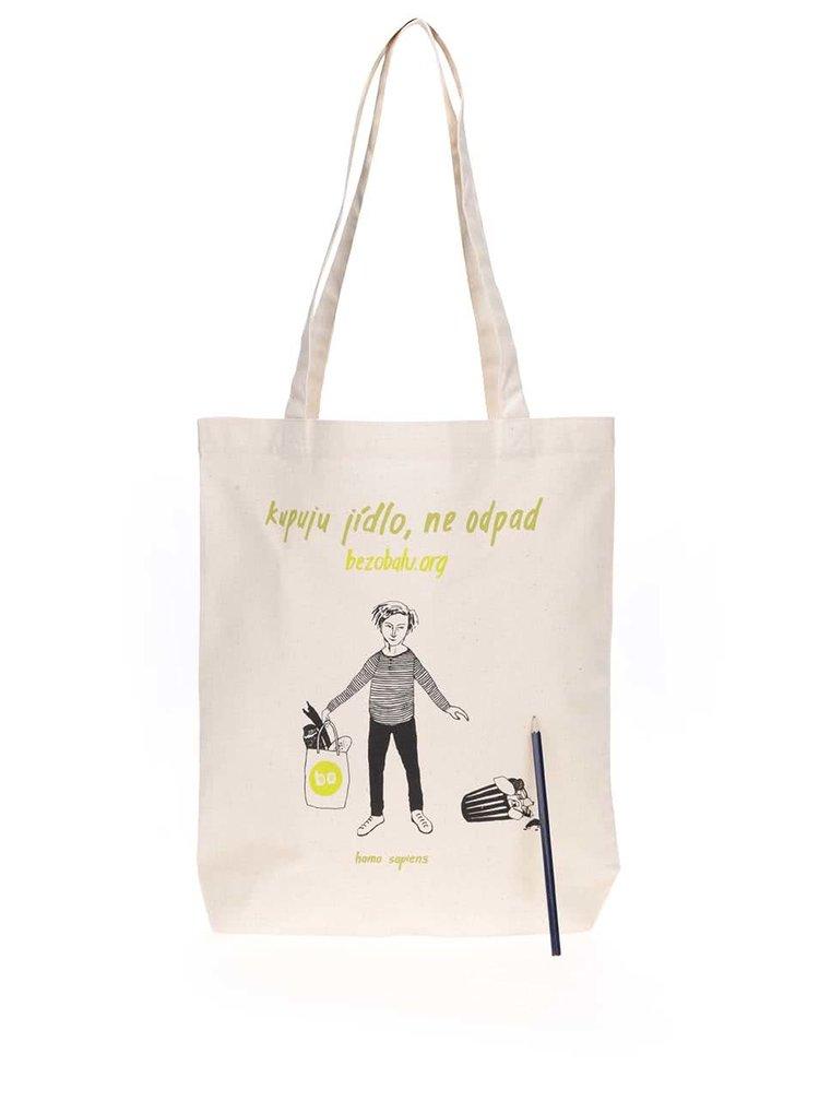 """""""Dobrá"""" plátenná taška Jsem směšný pro Bezobalu"""