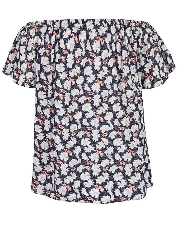 Modré tričko s kvetmi Dorothy Perkins Petite