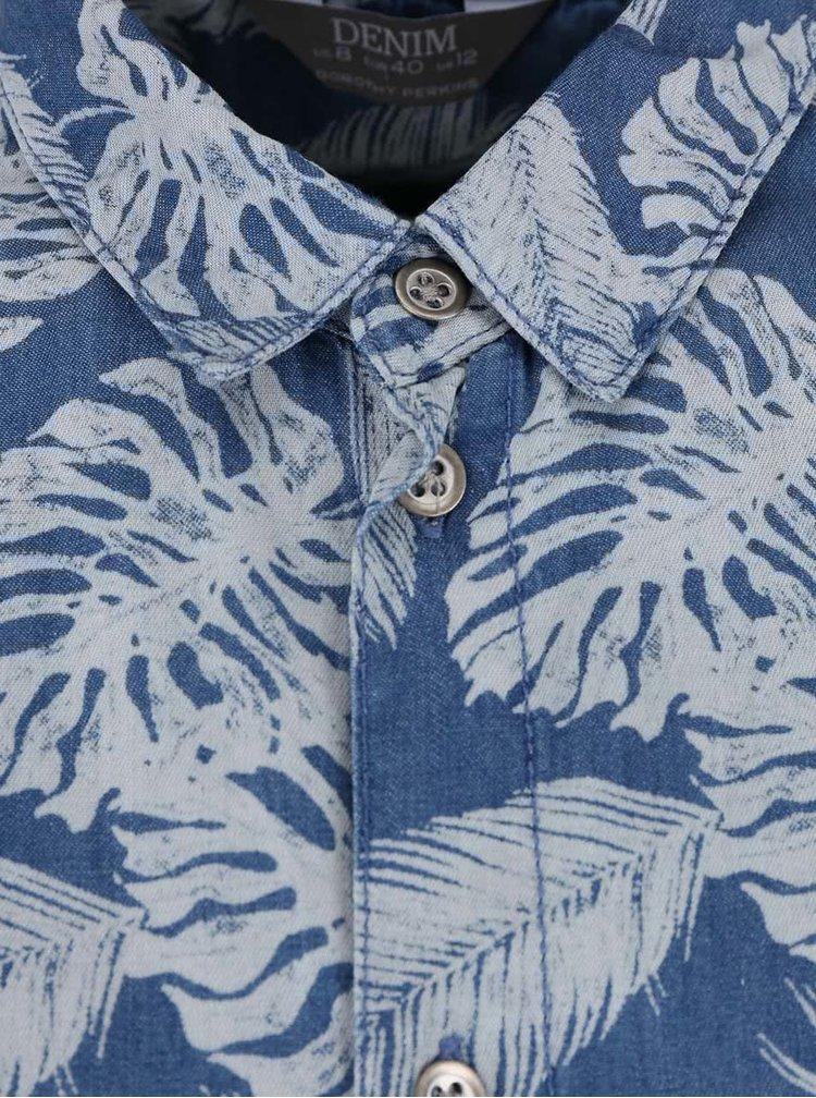 Modrý overal s motívom listov Dorothy Perkins