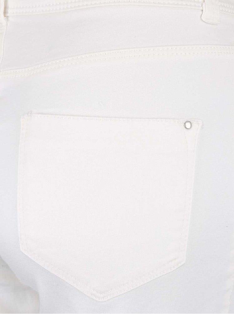 Krémové elastické capri nohavice Dorothy Perkins