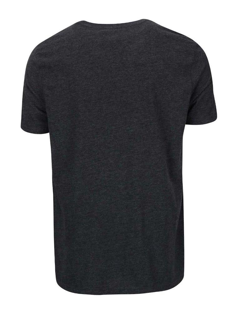 Tmavě šedé pánské triko s malým logem Converse