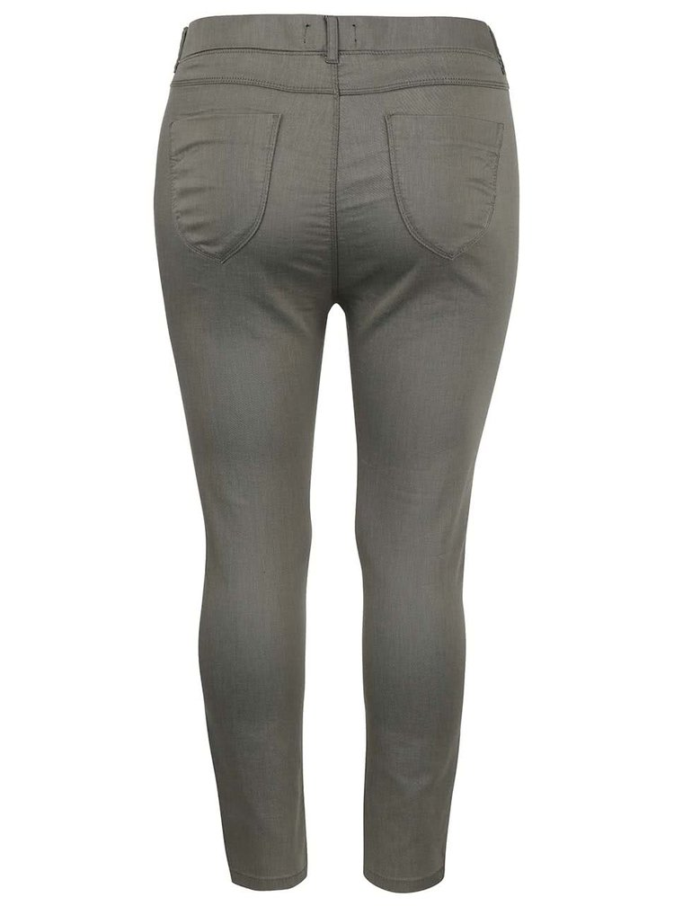 Zelené capri nohavice s nižším sedom Dorothy Perkins Curve
