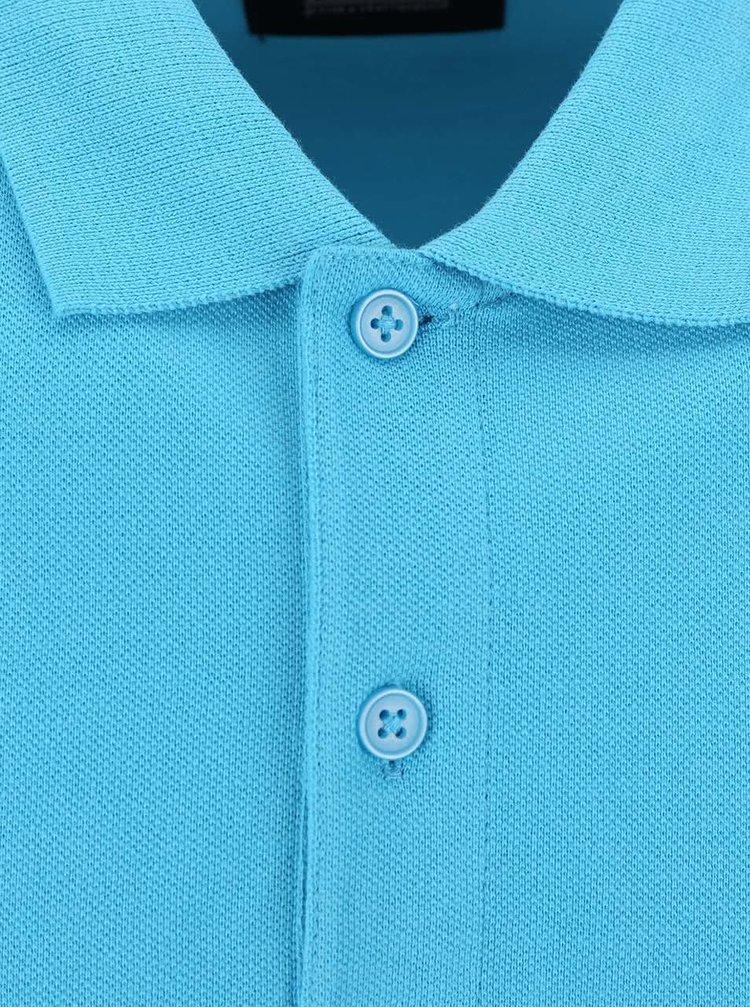 Modrá polokošeľa ONLY & SONS Pique