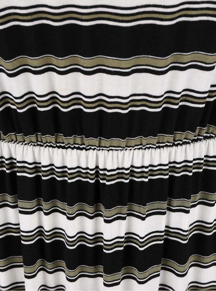 Rochie Dorothy Perkins Petite în dungi alb cu negru