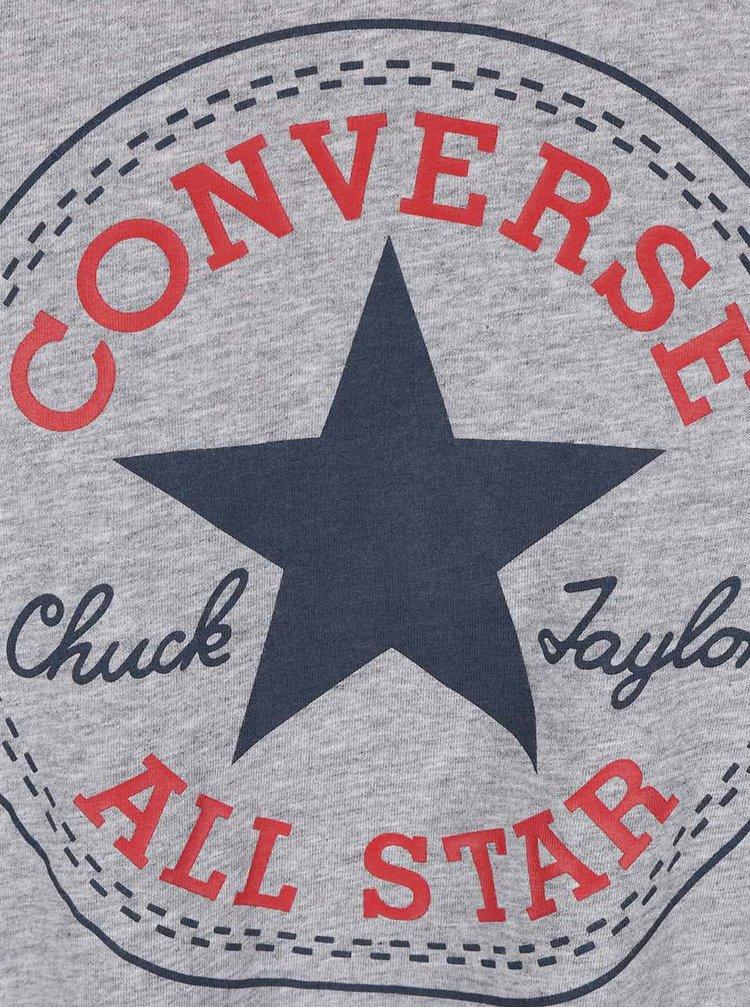 Sivé pánske tričko s logom Converse