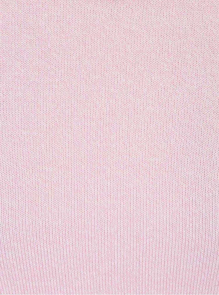 Růžové tričko s delší zadní částí Madonna