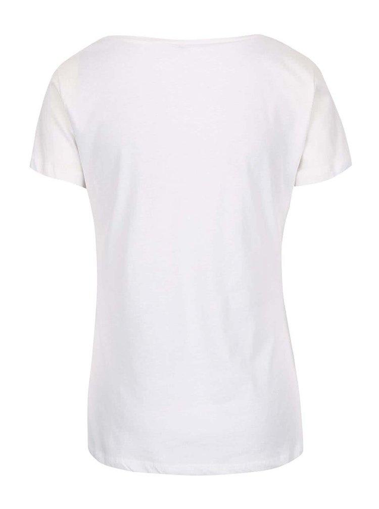 Bílé tričko s lebkou Madonna