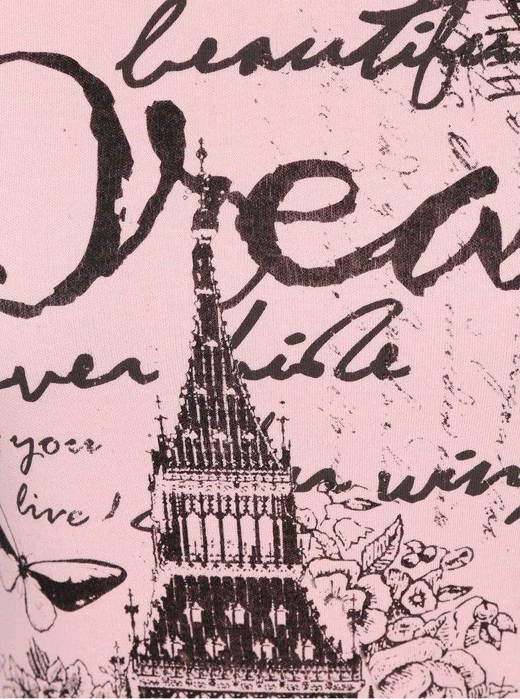 Světle růžové tričko s potiskem Madonna