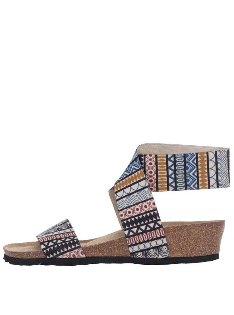 Barevné dámské vyšší sandály se vzorem OJJU