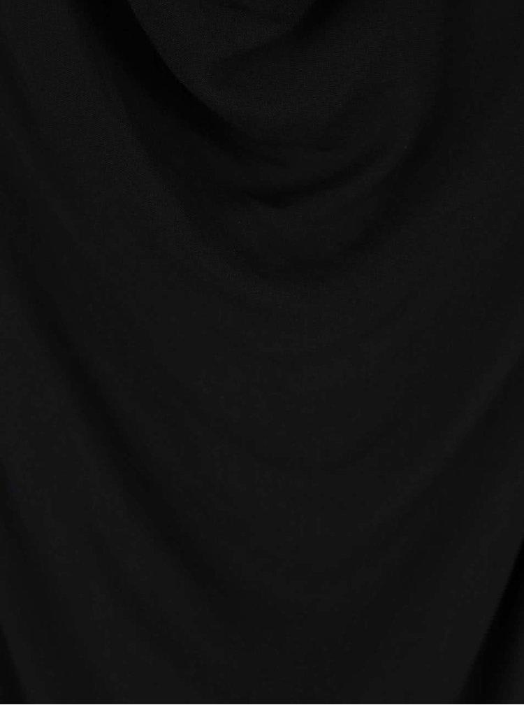 Černé tílko s prověšeným výstřihem Madonna