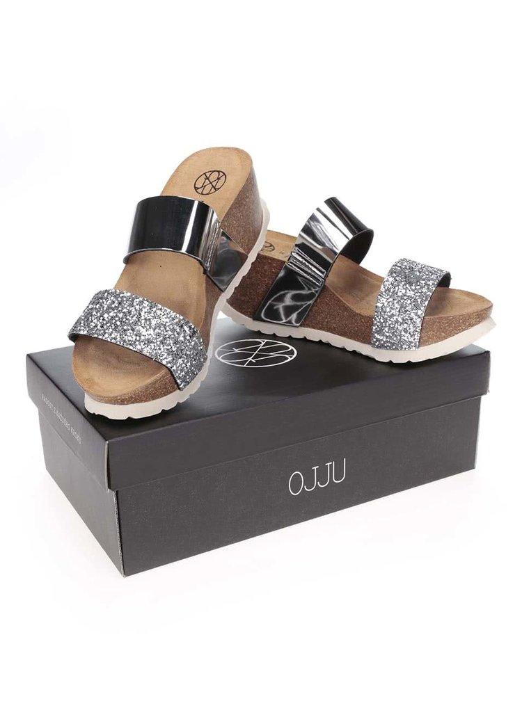 Papuci OJJU argintii