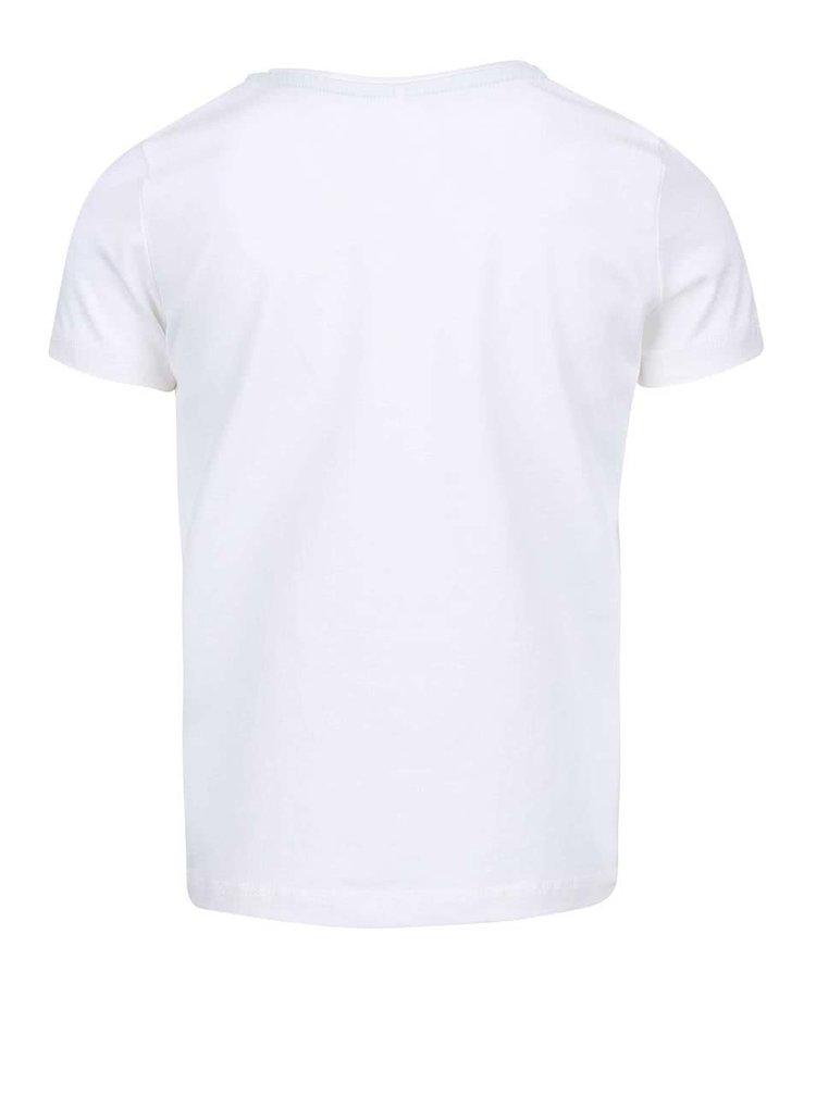 Biele dievčenské tričko s papagájmi name it Tilaya