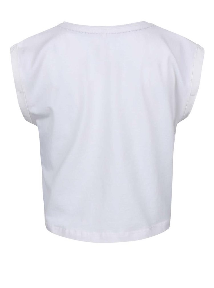 Tricou fete Name it Tinancy alb cu print