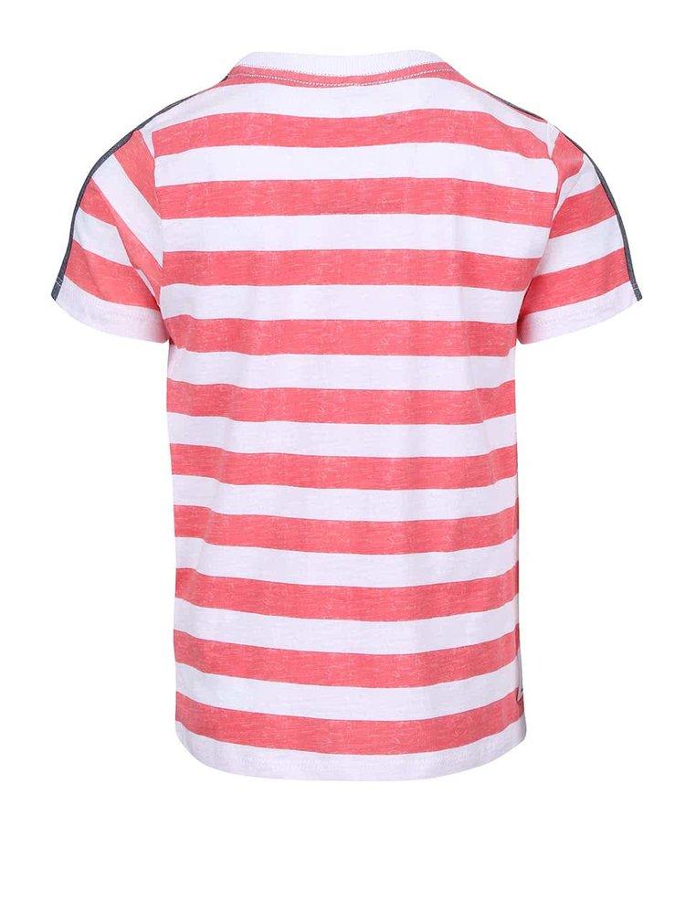Červené chlapčenské tričko s pruhmi name it Tian