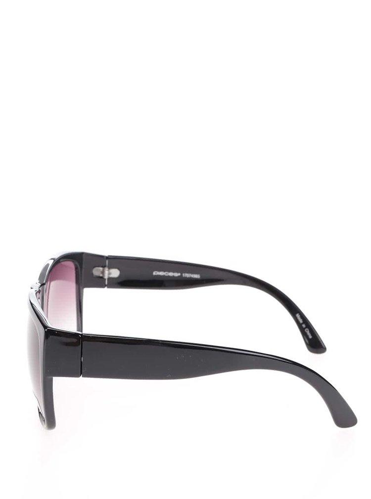 Čierne slnečné okuliare Pieces Birra
