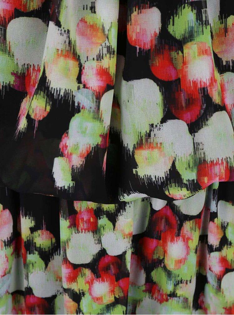 Černé maxišaty s barevnými motivy GINGER+SOUL