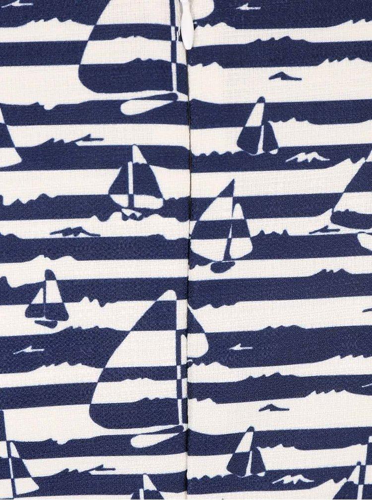 Modré pruhované šaty s plachetnicami GINGER+SOUL