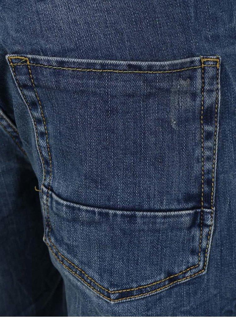 Pantaloni scurţi albastri din denim cu aspect uzat Shine Original Wardell