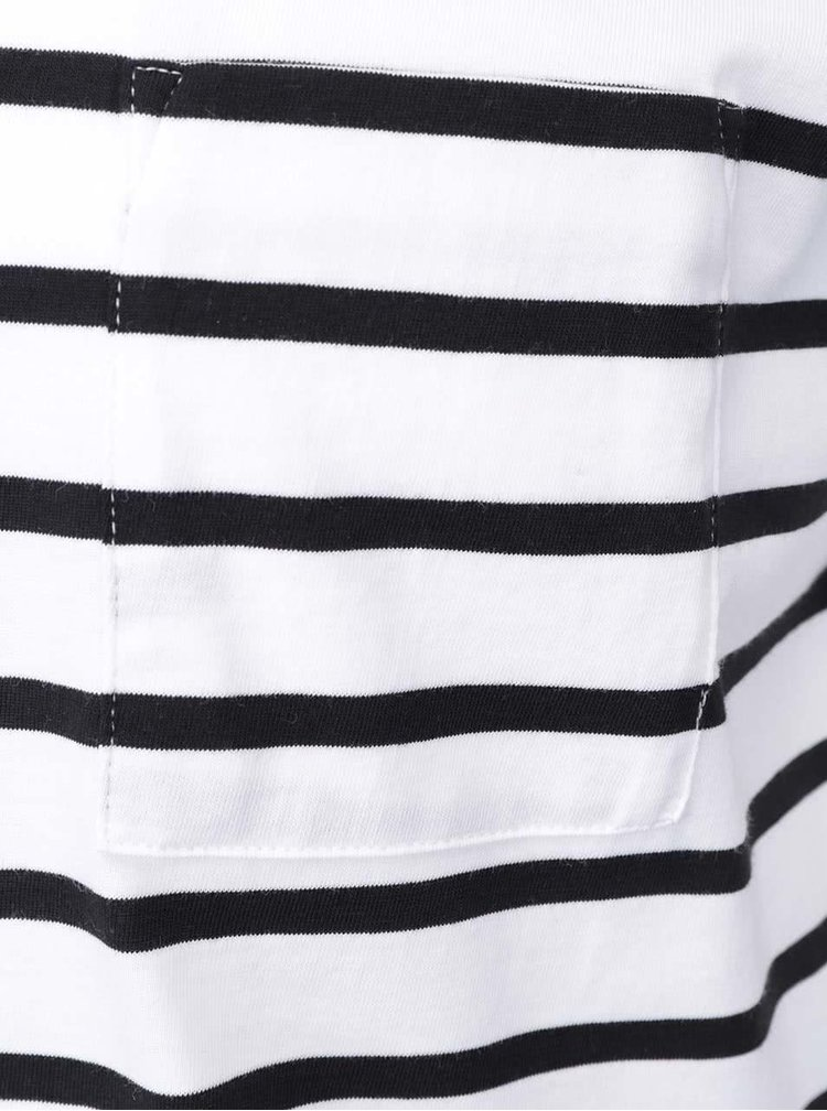 Bielo-čierne pruhované tričko Selected Homme Stroke