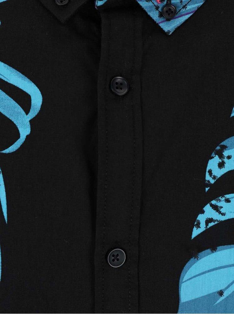 Čierna košeľa s tropickým vzorom Shine Original Gibson Out