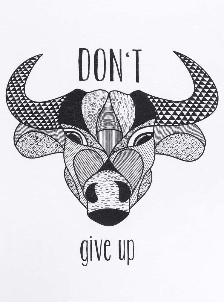 Bílé pánské triko ZOOT Originál Don´t Give Up