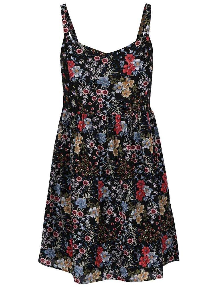 Černé květované šaty ONLY Loella