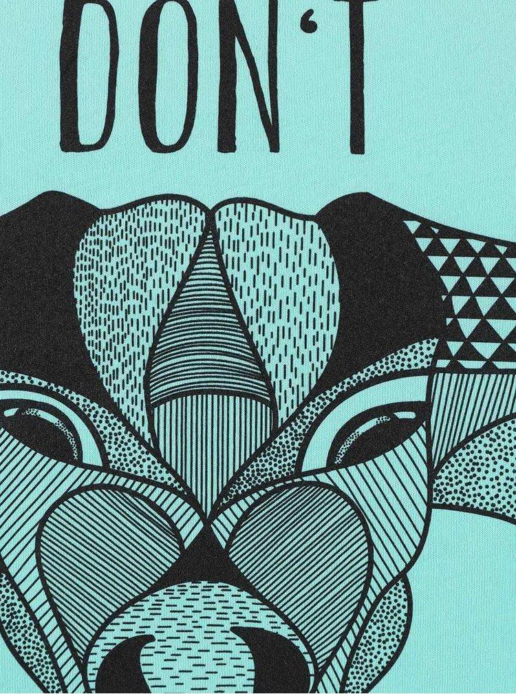Zelené dámske voľnejšie tričko ZOOT Originál Don't Give Up