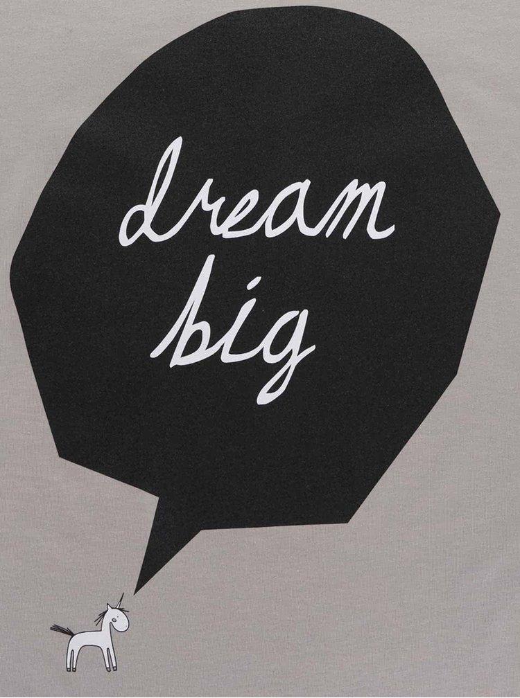 Šedé dámské tričko ZOOT Originál Dream Big