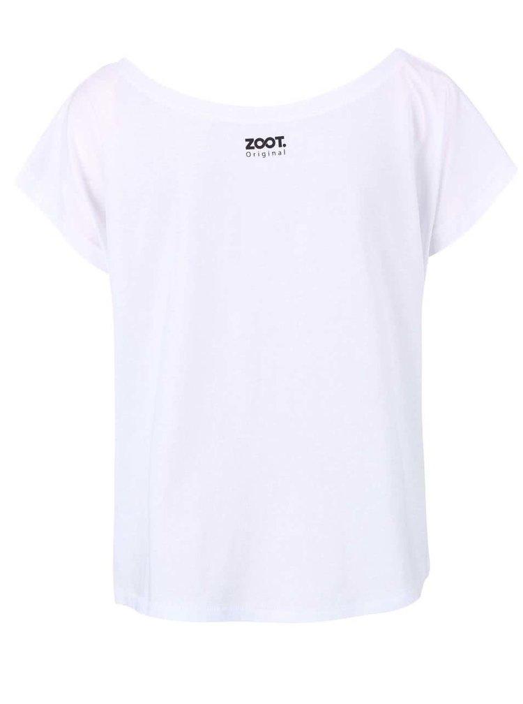 Biele dámske voľnejšie tričko ZOOT Originál Best Version