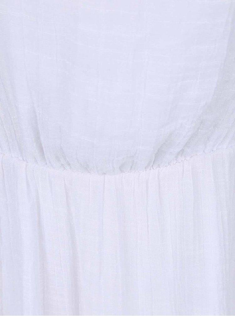 Biele šaty s gombíkmi Lavand