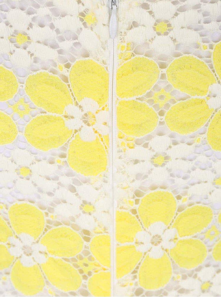 Rochie AX Paris galbena cu imprimeu