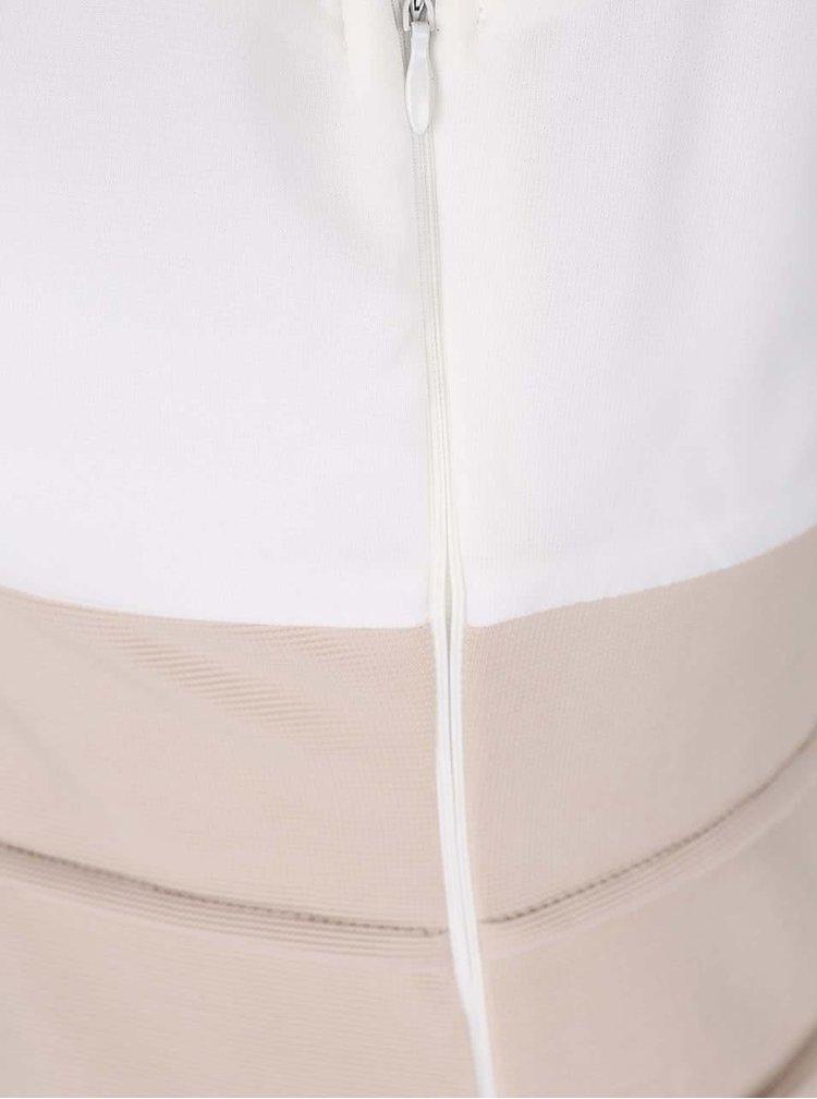 Rochie mini  AX Paris alb cu bej