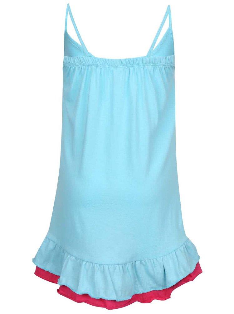 Svetlomodré dievčenské šaty na ramienka North Pole Kids