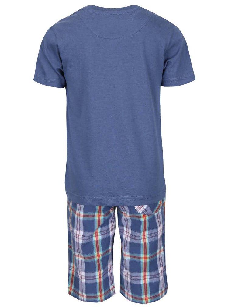 Set pantaloni scurti si tricou North Pole Kids albastru