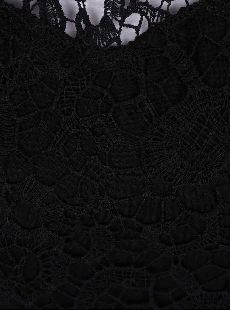 Čierne čipkované body AX Paris