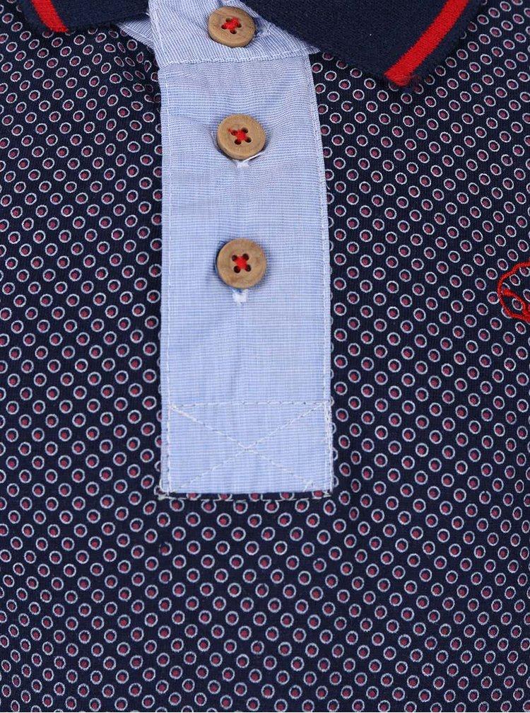 Tmavě modré klučičí vzorované polo triko North Pole Kids