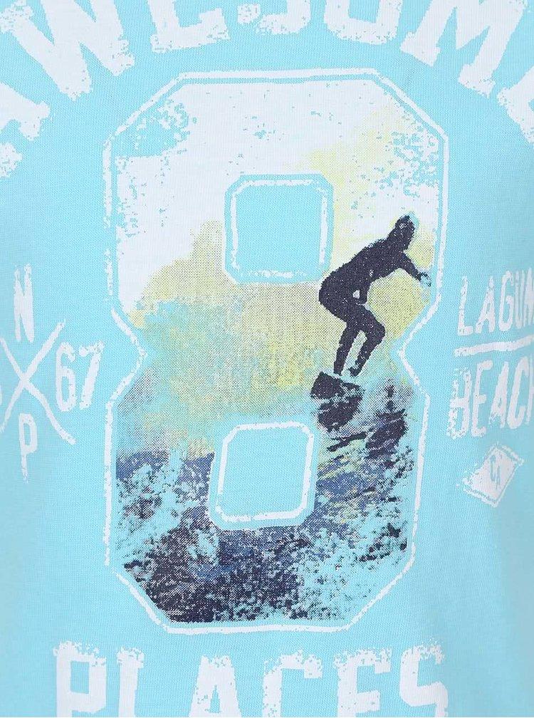Tricou de băieți North Pole Kids albastru deschis cu print
