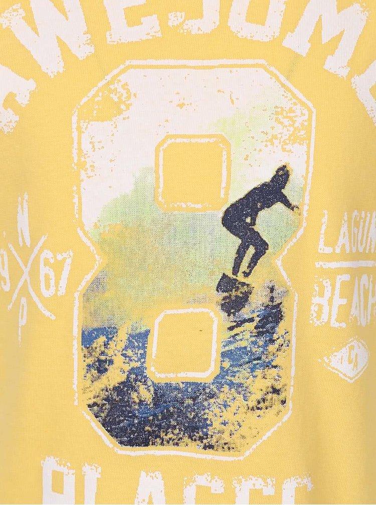 Žluté klučičí triko s potiskem North Pole Kids