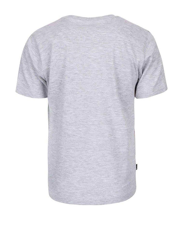 Sivé chlapčenské tričko s farebnou potlačou North Pole Kids