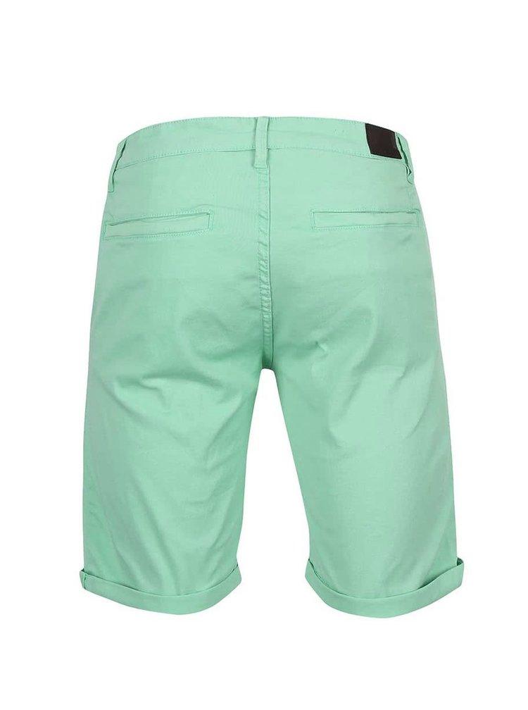 Pantaloni scurţi chino Shine Original Kurtis verde-mint