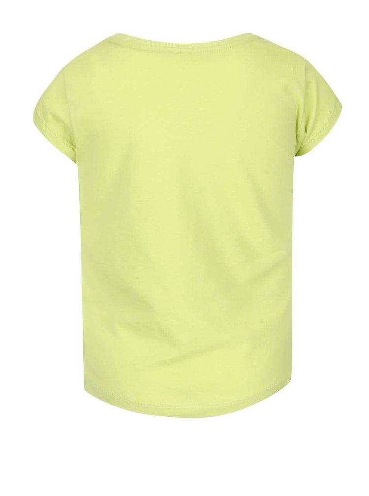 Světle zelené holčičí tričko s potiskem North Pole Kids