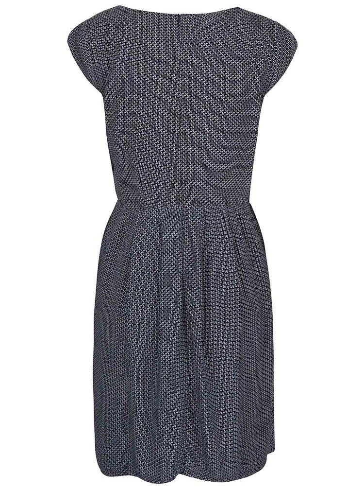 Tmavě modré vzorované šaty Zabaione Kleid Kathy