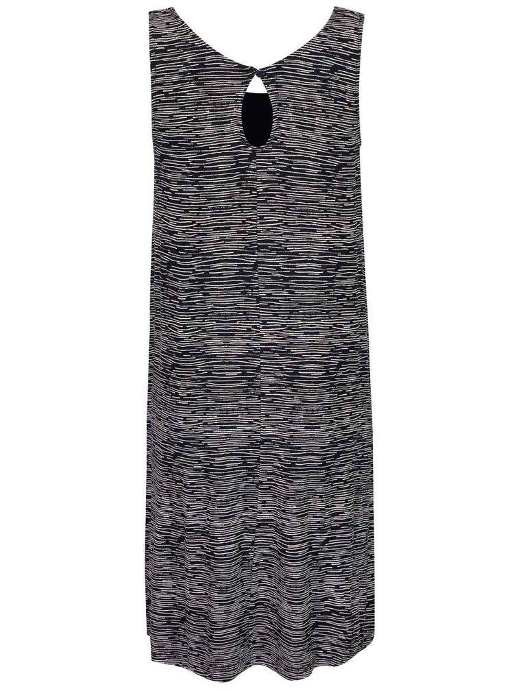 Čierne melírované šaty ICHI Lisa